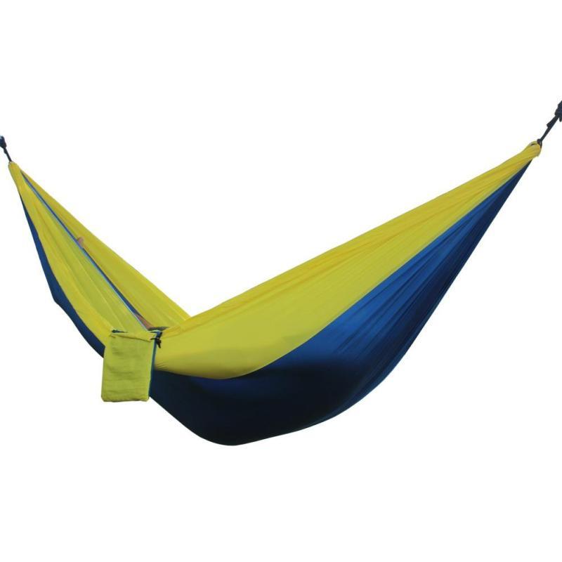 Portable Double Person Garden Leisure Hammock(Blue Yellow) - intl
