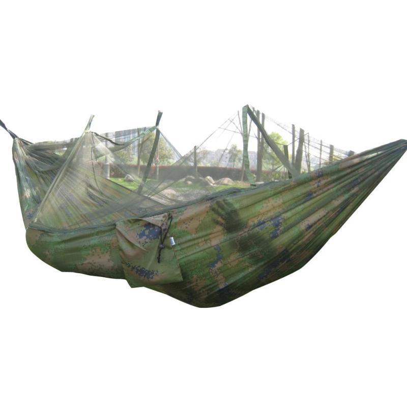 Portable Hammock Nylon Bed + Mosquito Net (Camo) - Intl - intl