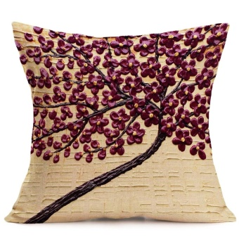 Print Sofa Bed Home Decoration Festival Pillow Case Cushion Cover - intl