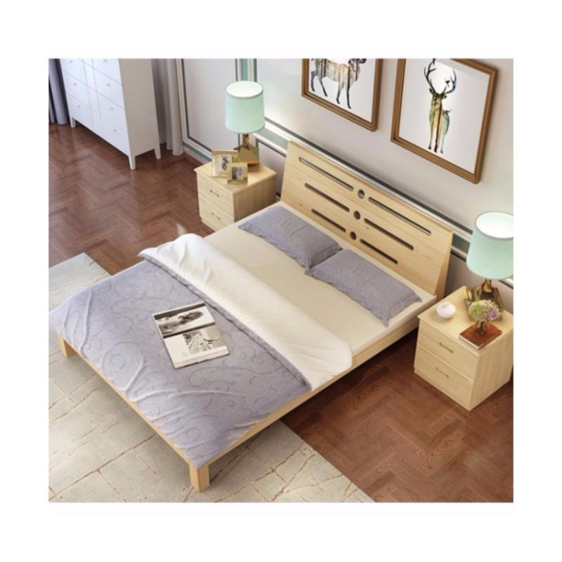 Promotion - Queen Size Wooden Bed - High Density Board