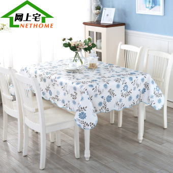 PVC Waterproof Heat Resistant Oil Resistant tablecloth dining table cloth