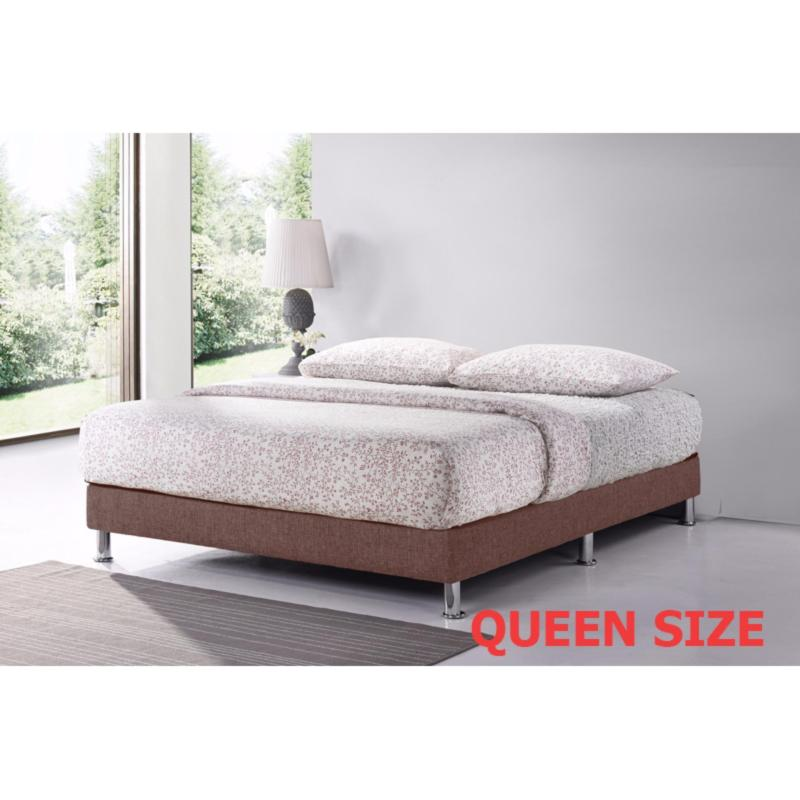Queen 5ft Divan Base * Dark Brown * Fabric Upholstery * Fast Delivery