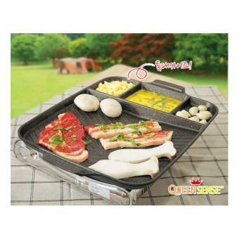Harga Queen Sense Korean Best-Selling Multi Cooking Barbecue RectangleGrill. - intl