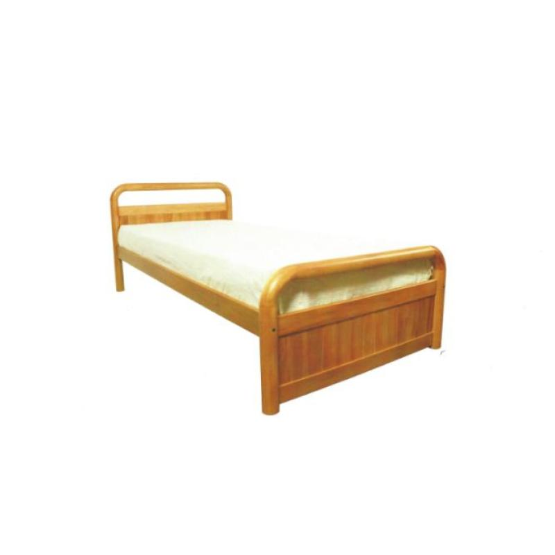 Red Dot Wooden Bed Frame Super Single Solid Mahogany Finish