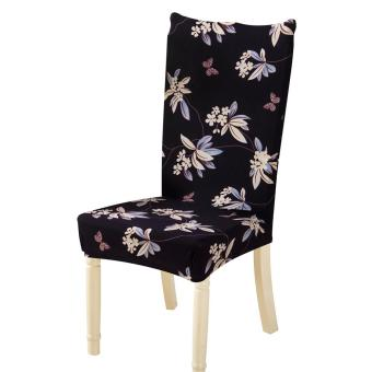 Removable Conjoined Stretchy Floral Home Stool Chair Seat Cover (2#) - intl