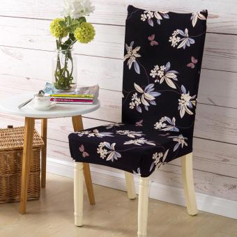 Removable Conjoined Stretchy Floral Home Stool Chair Seat Cover(2#) - intl - 5