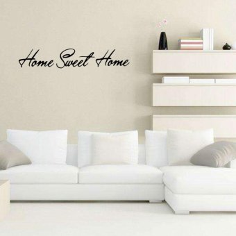 Removable PVC Sweet Home Vinyl Wall Sticker Art Home Room Decoration - intl