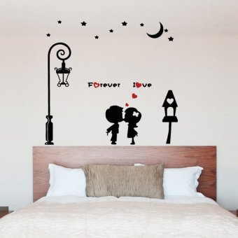 Harga Removable wall stickers wallpaper warm living room bedroom bedsidebackground wall decoration sticker small lovers
