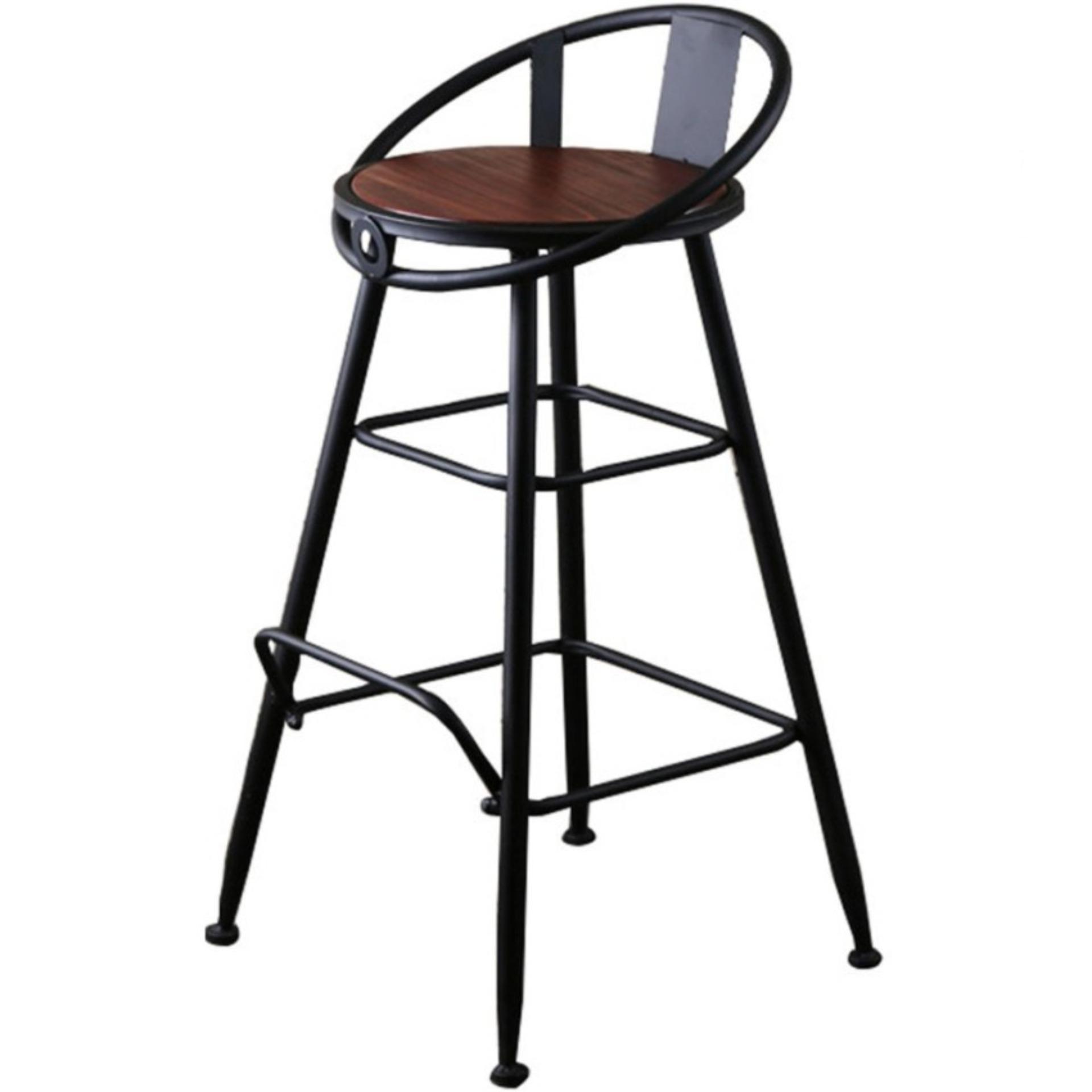 Retro High Chair Stools Bar Stool 75cm Wood