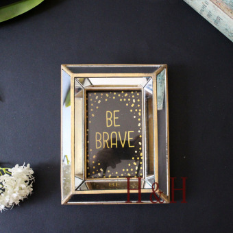 Retro to do the old gold stickers creative home decoration Photo Frame