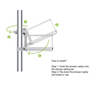 Rubine Shower Caddy (White) - Dia 19mm - 4