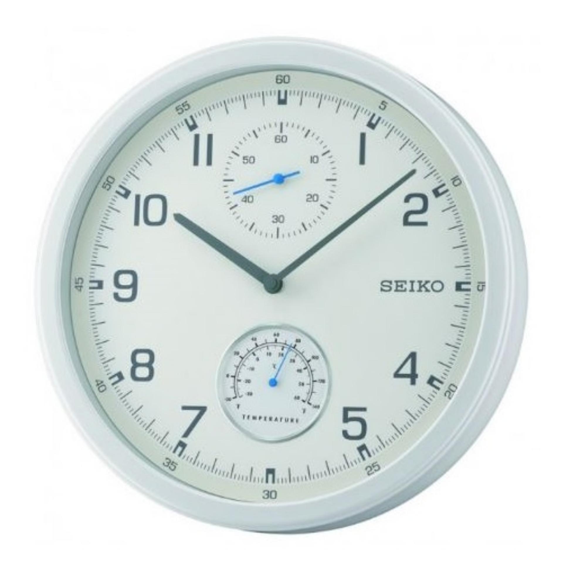 Seiko Qxa542w Analog Thermometer Wall Clock Singapore