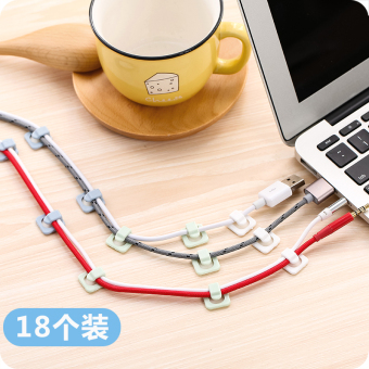 Self-adhesive cable management wire is wire fixed line card line deduction desktop mini data cable solid cable is cable solid clip
