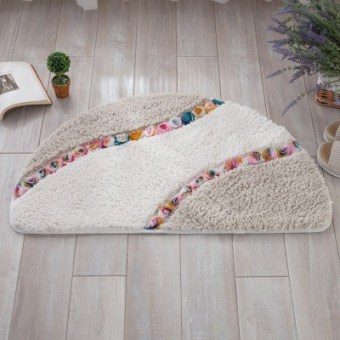 Semicircle mats toilet door absorbent foot step doormat bathroom bedroom bathroom door slip mats : door stepping - Pezcame.Com