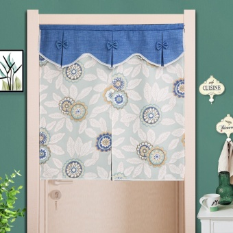 Send rod made curtain fabric pastoral curtains bedroom kitchen feng shui curtain off the bathroom half decorative curtain