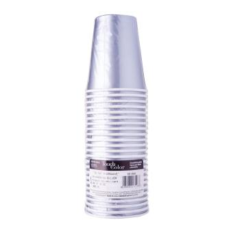 Silver Solid 9 Oz Hot/Cold Paper Cup 24pcs/pack