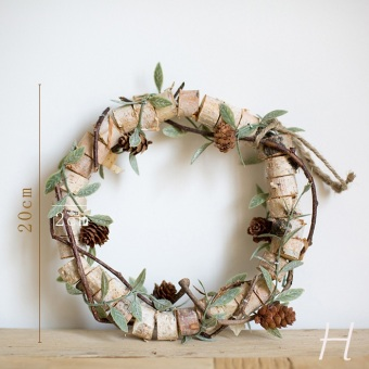 Harga Skim Han vines Garland wicker tree birch wreath wood natural hand crafts wall decoration DIY