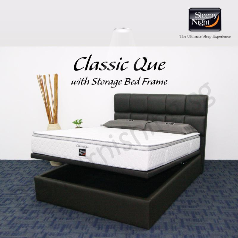 Sleepy Night (King) Classic Que Mattress with Jean Storage Bedframe