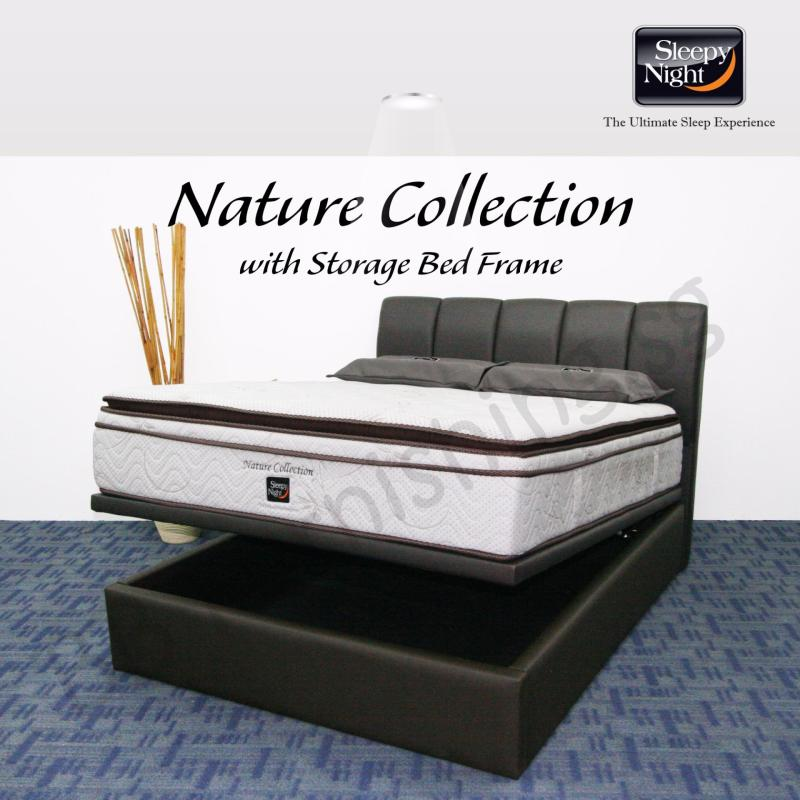 Sleepy Night (King) Nature Collection Mattress with Jacinta Storage Bedframe