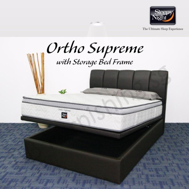 Sleepy Night (King) Ortho Supreme Mattress with Jacinta Storage Bedframe