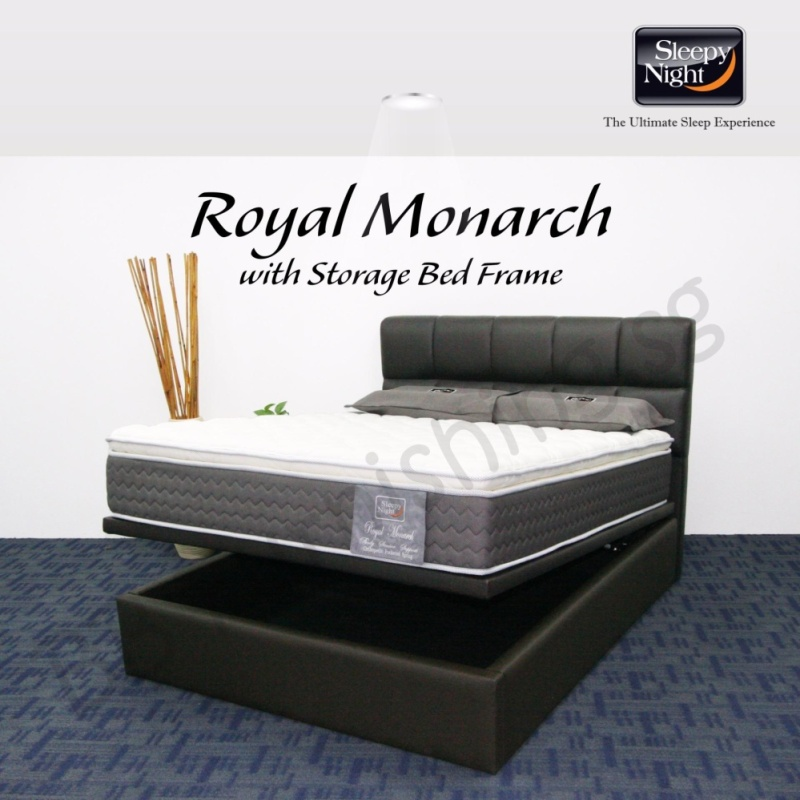 Sleepy Night (King) Royal Monarch Mattress with Jean Storage Bedframe