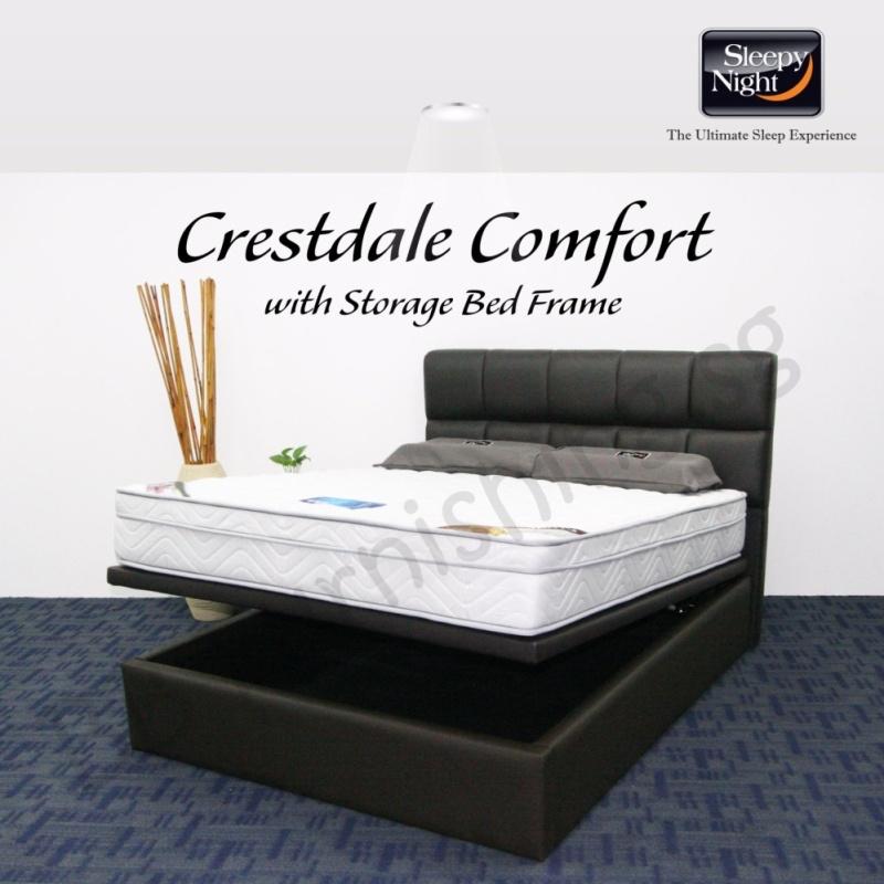 Sleepy Night (Queen) Crestdale Comfort Mattress with Jean Storage Bedframe