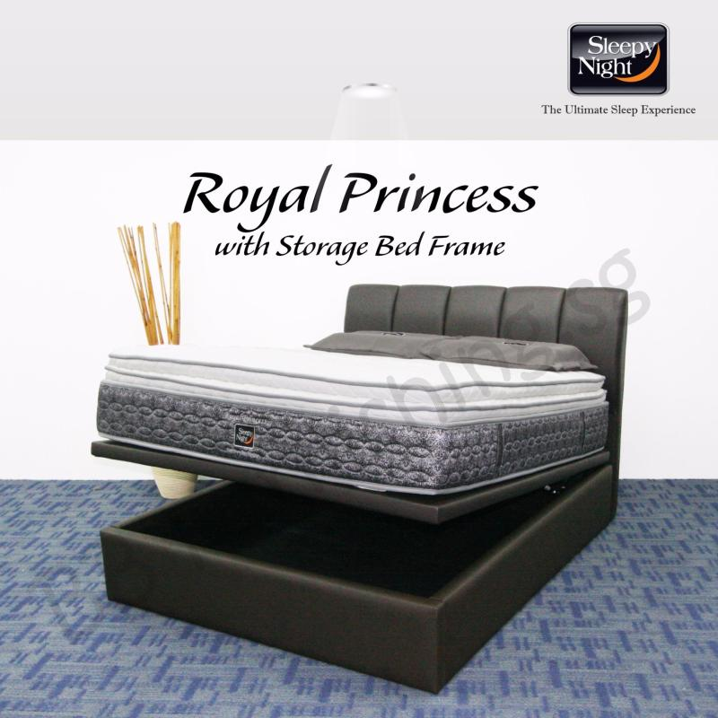 Sleepy Night (Queen) Royal Princess Mattress with Jacinta Storage Bedframe