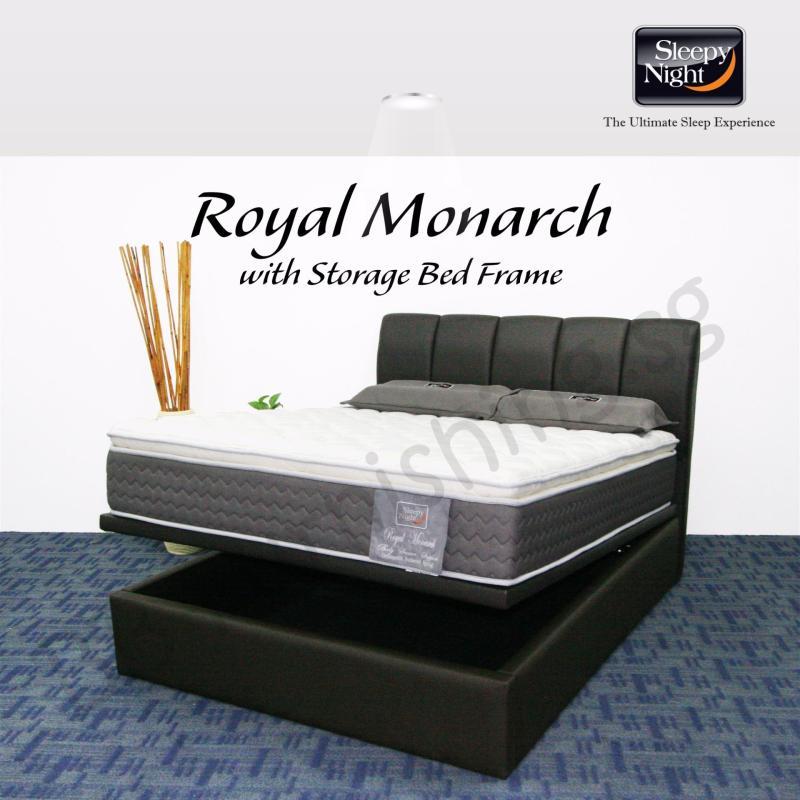 Sleepy Night (Single) Royal Monarch Mattress with Jacinta Storage Bedframe