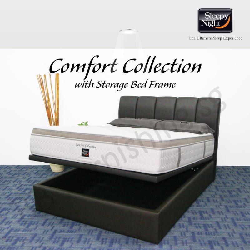 Sleepy Night (Super Single) Comfort Collection Mattress with Jacinta Storage Bedframe
