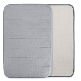 Soft Non-Skid Absorbent Memory Foam Rectangle Bath Mat - intl