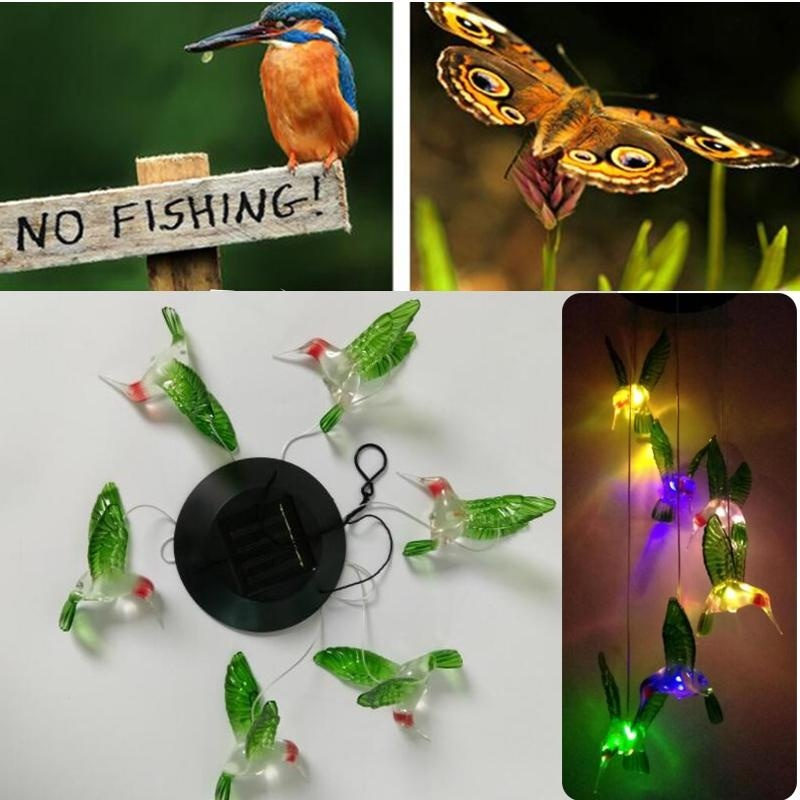 Solar Lamp Color Changing LED Wind Chimes Light Hanging Home Garden Decor - intl