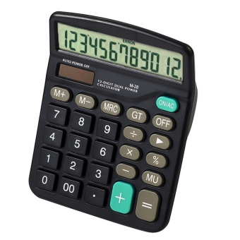 Standard Function 12 Digit Dual-Powered Handheld Calculators forHome Office School Bussiness Desktop Calculator - intl