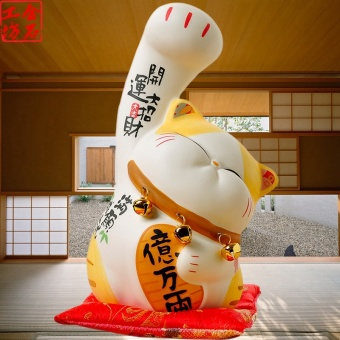 Stone workshop lucky Zhao Fu boss peach cat saving cans creativebirthday gift decorative ornaments opening gifts