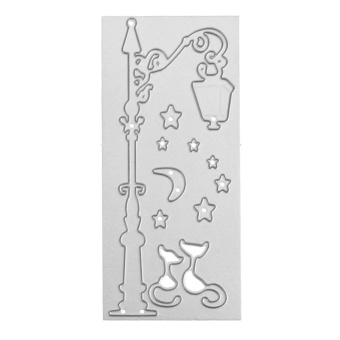 Street Lamp DIY Metal Stencil Scrapbook Craft Embroidery Cutting Die - intl