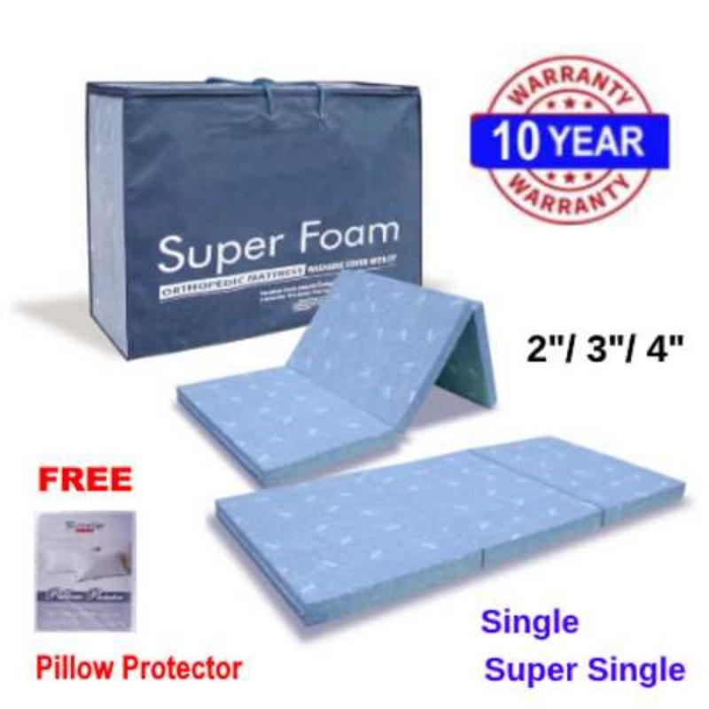 SUPERFOAM Foldable 2in Mattress(Single)