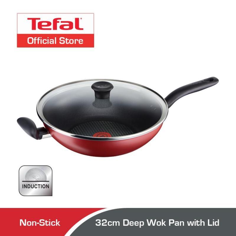 Tefal 32cm Pure Chef Deep Wok Pan with Lid C61796 Singapore