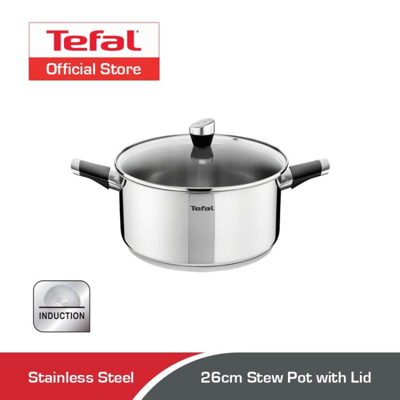Tefal Emotion Stainless Steel Stew Pot w/Lid 26cm E82352 Singapore