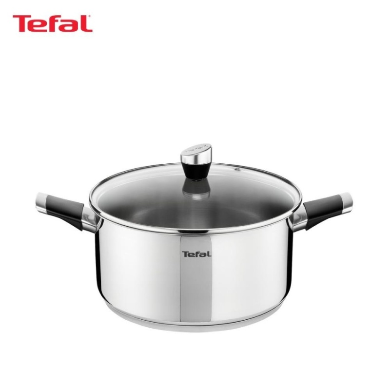 Tefal Emotion Stainless Steel Stewpot 20cm w/Lid - E8234424 Singapore