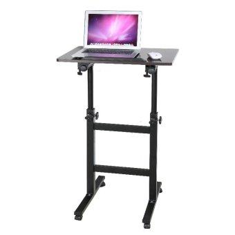 TLA006 adjustable computer desk rolling laptop table standing ...