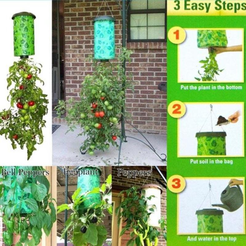 Tomato Upside Down Hanging Planter System Outdoor Garden Greening Planting - intl