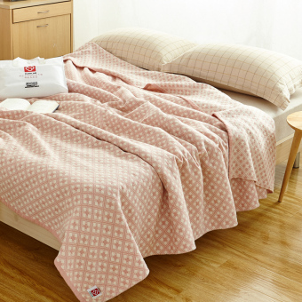 Towel is cotton wash four layer gauze blanket single double cool insummer air conditioning blanket summer thin quilts Japanese-styleblanket - 2