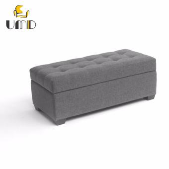 UMD Designer Ottoman/Storage Bench( Large:100x40x40,Grey)