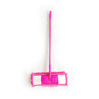 Vibrant Microfiber Mop With 3 Mop Pads (Pink)