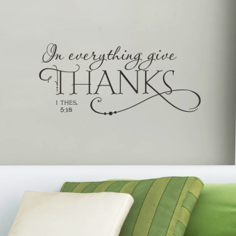 Wall Decals Thanks English Words And Quotes PVC Wall Stickers - Wall decals singapore