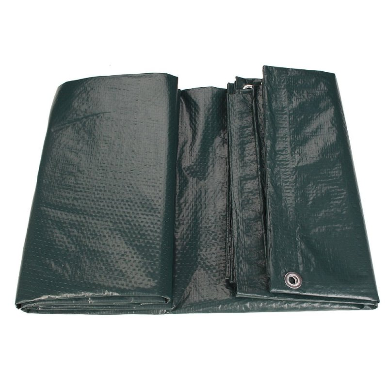 Waterproof Tarpaulin Ground Sheet Camping Cover Lightweight Dark Green 2.4m x 3 m(Export)