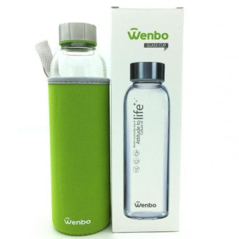 Harga Wenbo Glass Drinking Bottle-550ml (Green)