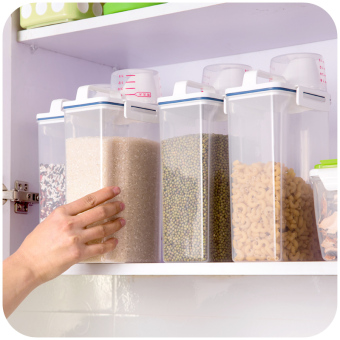 Whole Grains measuring cup Sealed Surface bucket plastic storage Bucket