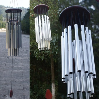 Wind Chimes Bells Outdoor Yard Garden Home Decor Ornament Silver -intl