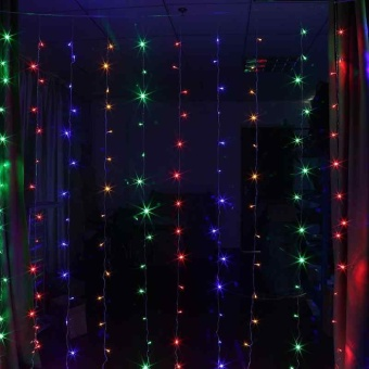 Window Curtain Lights String Fairy Light Wedding Party Decor 3*3M 300LEDs Latest - intl