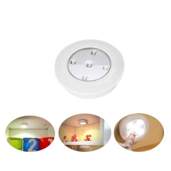 Wireless Remote Control Lights LED Touch Night Light 6PCS - intl